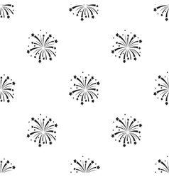 Patriotic fireworks icon in black style isolated vector image vector image