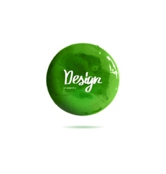 round green banner painted with paint vector image vector image