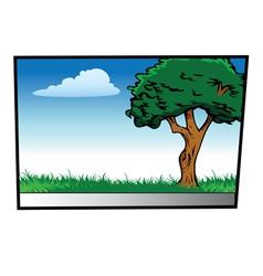 sidewalk scene vector image vector image