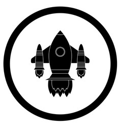 Space shuttle black icon vector