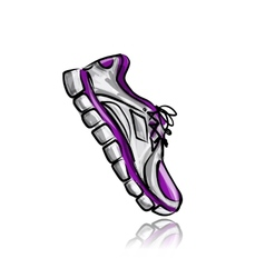 Sport sneakers sketch for your design vector image vector image
