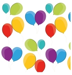 Colored balloons flying fun party vector
