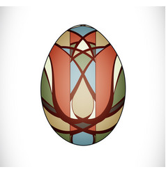 Colorful easter egg vector