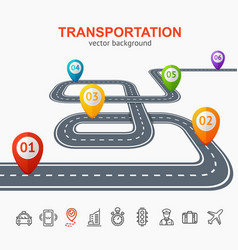Transportation concept card or poster vector