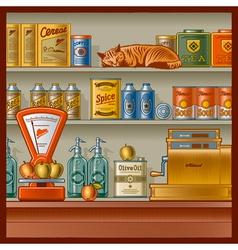 Retro store vector image
