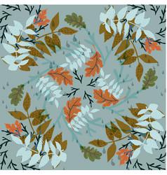 Autumn foliage hand drawn pattern vector