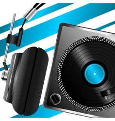 headphones musical theme vector image