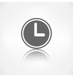 Clock web icon button time symbol vector