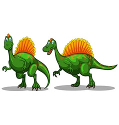 Green dinosaur with sharp claws vector
