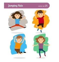 Jumping kids characters vector