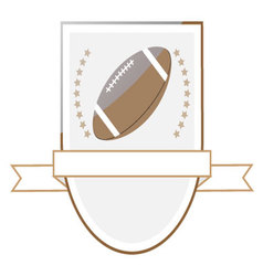 Rugby football logo emblem vector