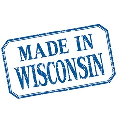 Wisconsin - made in blue vintage isolated label vector