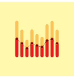 Infographics with red and yellow overlapping bars vector