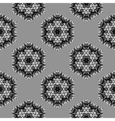 Creative ornamental seamless grey pattern vector