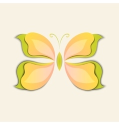 3d paper abstract butterfly colorful shape vector