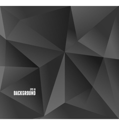 Abstract carbon black triangle background vector