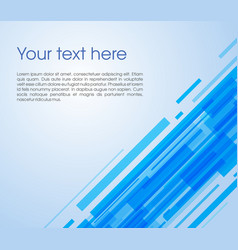 abstract oblique rectangle background in blue vector image vector image