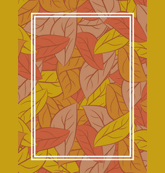 autumn leaves background yellow fallen leaf vector image