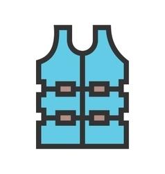Bullet proof vest vector