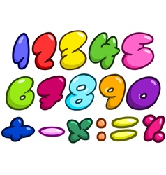 Comic bubble numbers vector image vector image