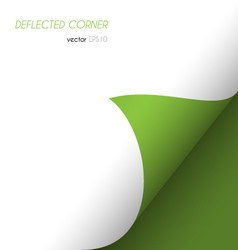 deflected corner vector image