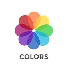 Digital color wheel vector