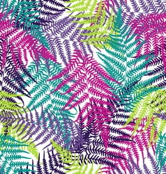 Fern frond seamless pattern vector