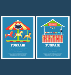 Funfair set of two posters vector