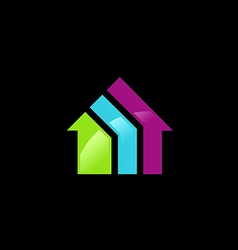 house colorful logo vector image