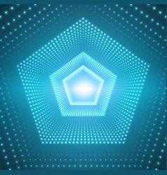 Infinite pentagonal tunnel of vector
