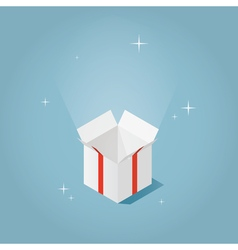 Isometric magic opened box vector image vector image