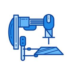 machine tool line icon vector image