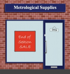 metrological supplies vector image vector image