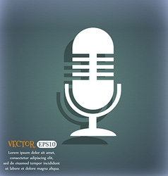microphone icon On the blue-green abstract vector image