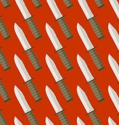 Military Knife seamless pattern Background bladed vector image vector image