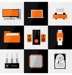 PC icon set vector image vector image