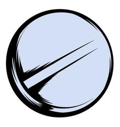 pill icon cartoon vector image vector image