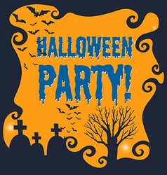 Poster of halloween party vector image vector image