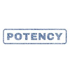 Potency textile stamp vector