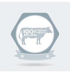 premium beef label badge Farm shop cow milk vector image vector image