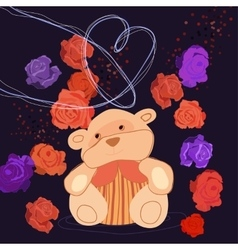 Romantic Bear vector image