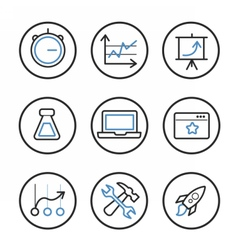 Set of search engine optimization icons vector image vector image