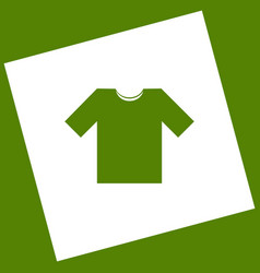 T-shirt sign white icon vector