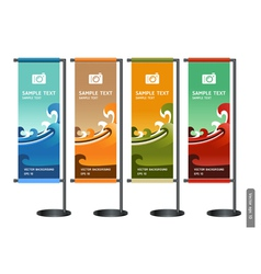 Trade exhibition stand display vector image vector image
