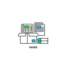 waste paper recycle concept icon in line design vector image vector image