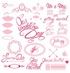 wed calligraphy 380 vector image vector image