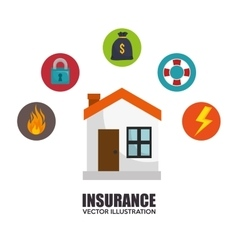House insurance protection design vector