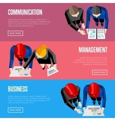 Business website templates Top view of architects vector image