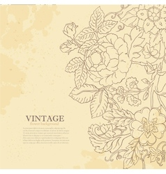 Vintage grunge flower backgriund vector