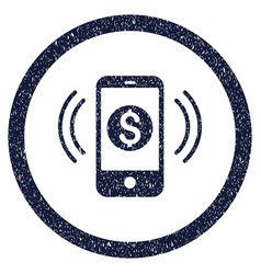 payment phone ring rounded grainy icon vector image